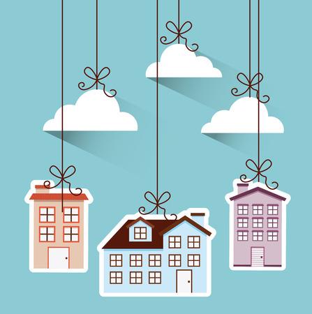 neighborhood: welcome neighborhood design, vector illustration eps10 graphic