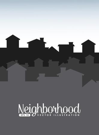 welcome neighborhood design, vector illustration eps10 graphic