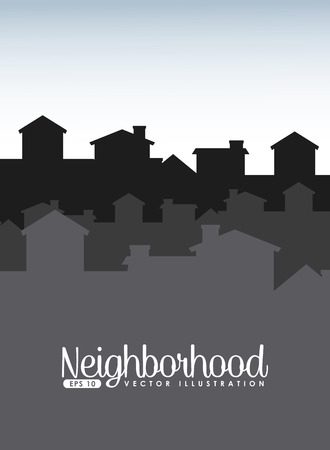 welcome neighborhood design, vector illustration eps10 graphic