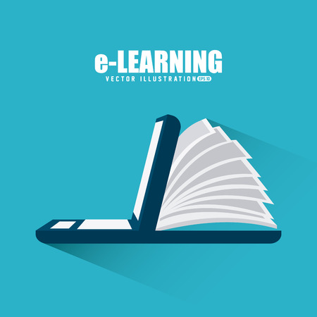 e learn: e-learning design, vector illustration eps10 graphic