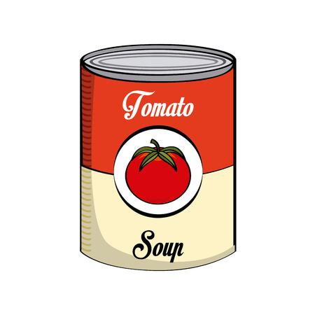 diseño de la sopa de tomate, ejemplo gráfico del vector eps10
