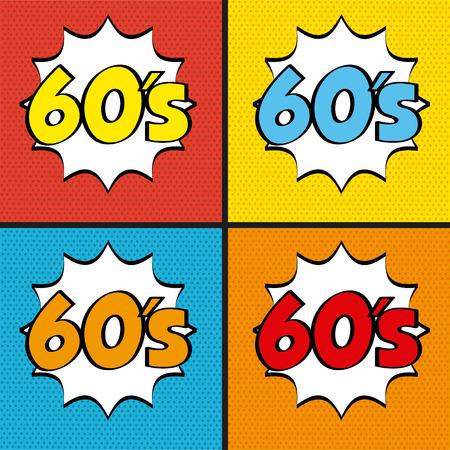 decade: pop art design, vector illustration eps10 graphic