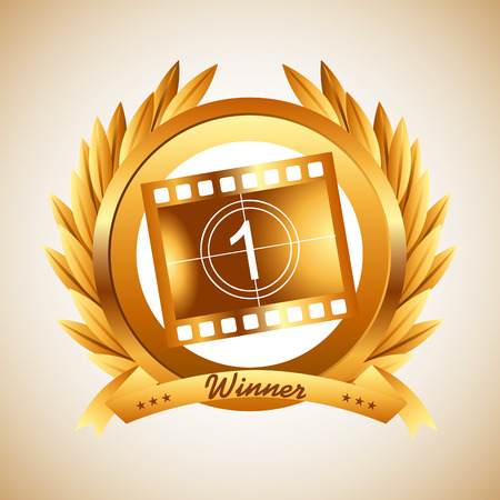 presentation people: film award design, vector illustration eps10 graphic