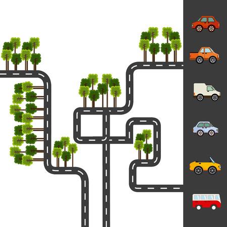 city roads design, vector illustration eps10 graphic