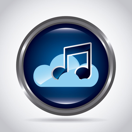 digital music: digital music design, vector illustration eps10 graphic Illustration