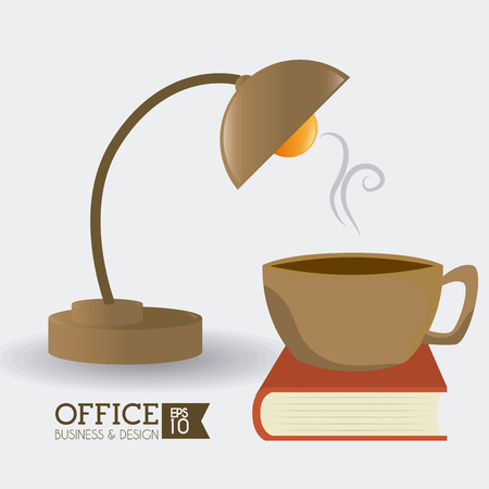office product: Office design over white background, vector illustration.
