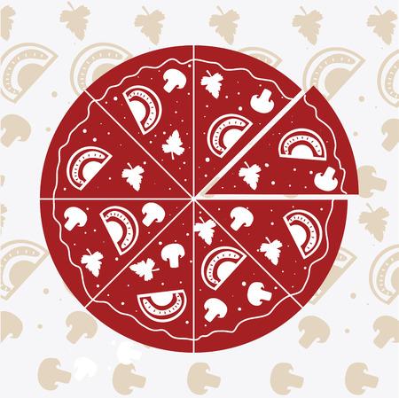 nutritive: Pizza design, vector illustration. Illustration