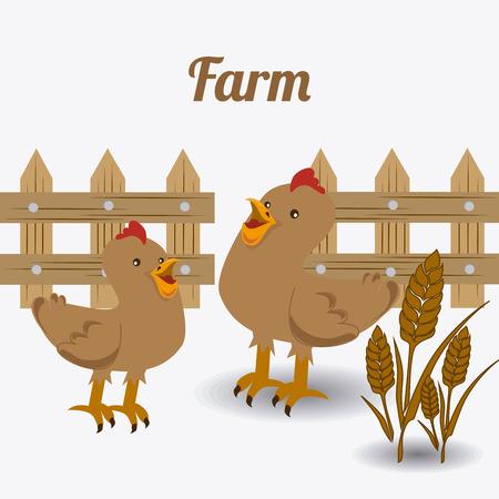 Farm design over white background, vector illustration.