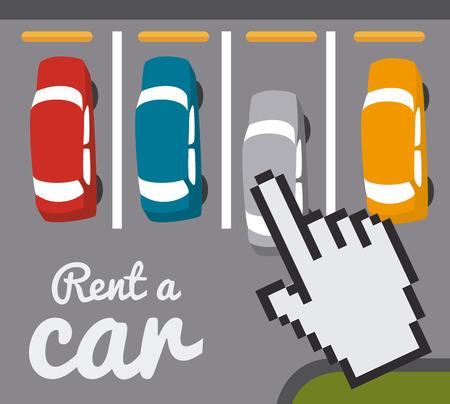rent: Rent a car design over gray background, vector illustration.