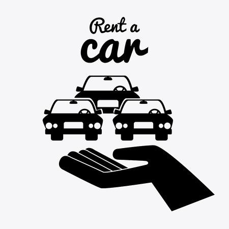 rent: Rent a car design over white background, vector illustration.