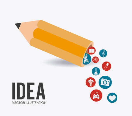 practical: Idea design over white background, vector illustration.