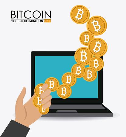 million: Bitcoin desgin over white background, vector illustration.
