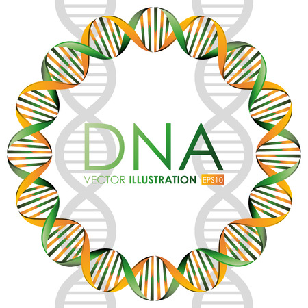 DNA design, vector illustration. Ilustrace
