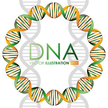 DNA-ontwerp, vector illustratie.