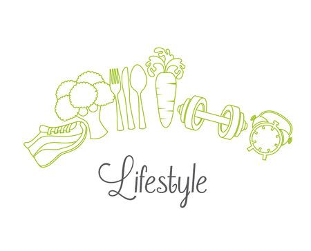 健康的なライフ スタイル デザイン、ベクトル イラスト eps10 グラフィック