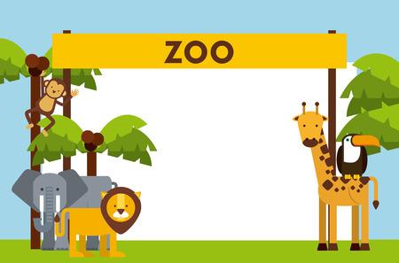 cartoon zoo: animals cute design, vector illustration eps10 graphic
