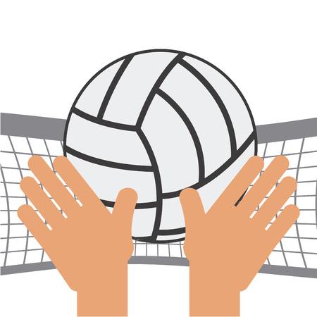 balon voleibol: dise�o de deporte de voleibol, ejemplo gr�fico del vector eps10