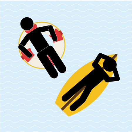 swiming: beach vacations design, vector illustration eps10 graphic