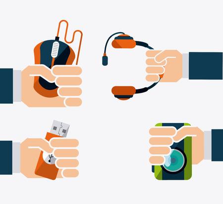 gadgets: gadgets icon design, vector illustration eps10 graphic