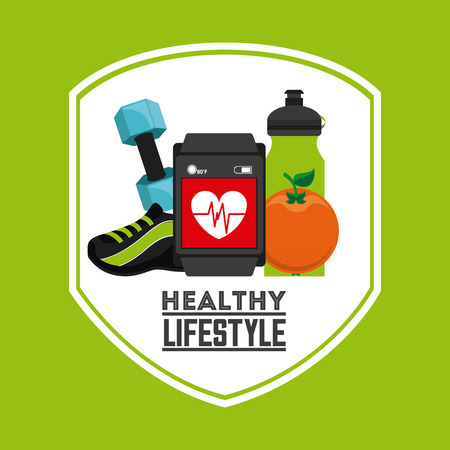 healthy lifestyle design, vector illustration eps10 graphic Vector
