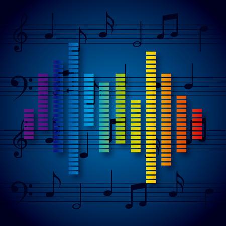 color mixing: digital music design, vector illustration eps10 graphic Illustration