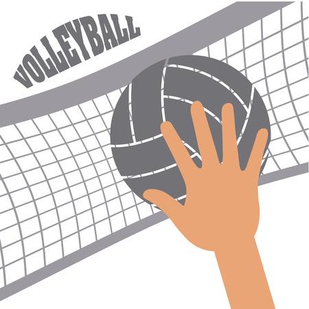 balon de voley: diseño de deporte de voleibol, ejemplo gráfico del vector eps10