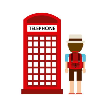 telephone cab design, vector illustration eps10 graphic Vector