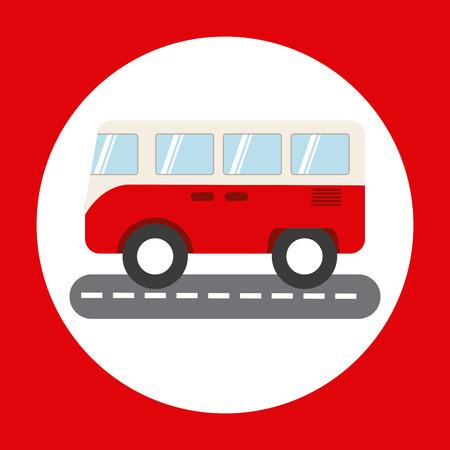 family van: bus icon design, vector illustration eps10 graphic