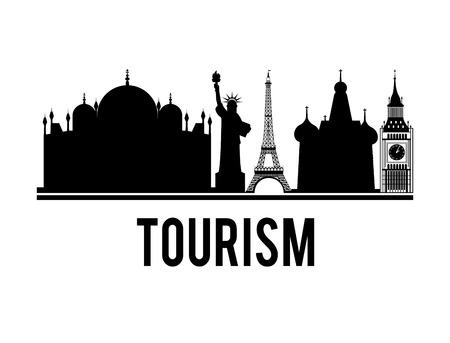 new york silhouette: travel vacations design Illustration