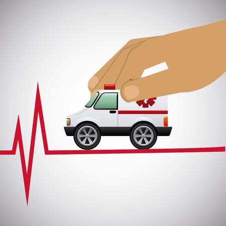 emergency cart: medical concept design graphic