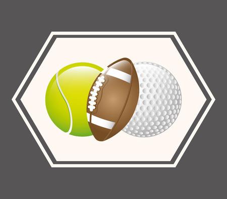 balones deportivos: bolas de los deportes de dise�o gr�fico Vectores