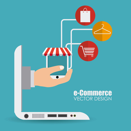 e commerce: E commerce design illustration.