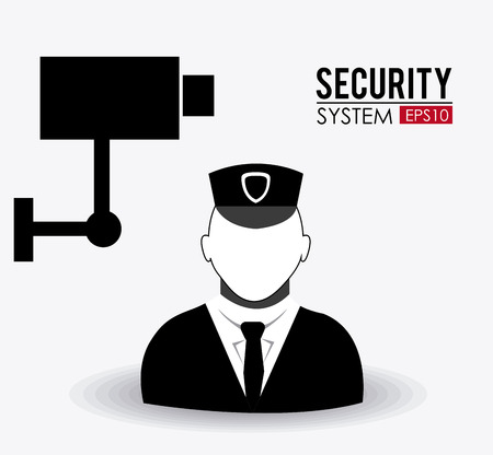 watchmen: Security design over white background Illustration