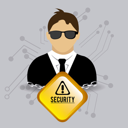 Security design over gray background Illustration