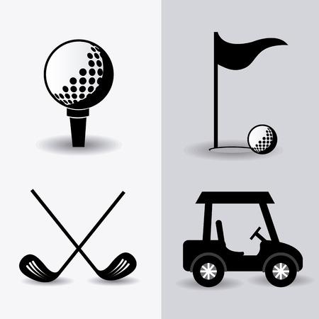 golf  ball: Diseño Golf más de fondo blanco Vectores