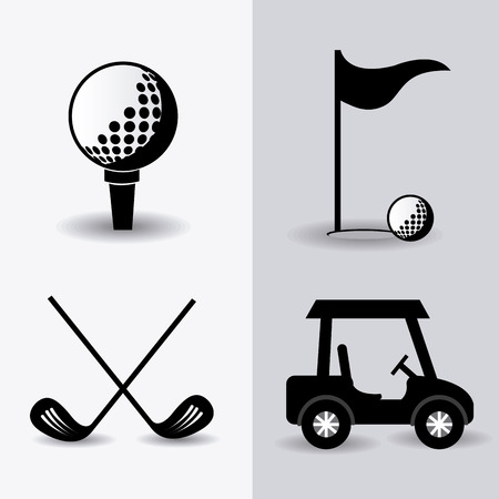 play golf: Golf design over white background
