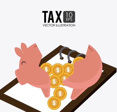 millionaire: Taxes design over white background