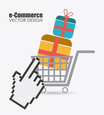 E commerce design illustration.