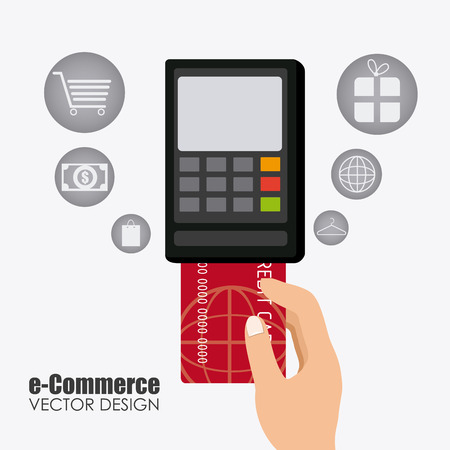e commerce: E commerce design illustration.