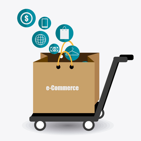 ecommerce icons: Ecommerce design, vector illustration. Illustration