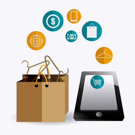 e commerce: E commerce ontwerp illustratie.