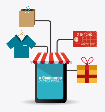 E commerce design illustration.