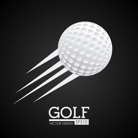 fitness ball: Golf design over black background Illustration
