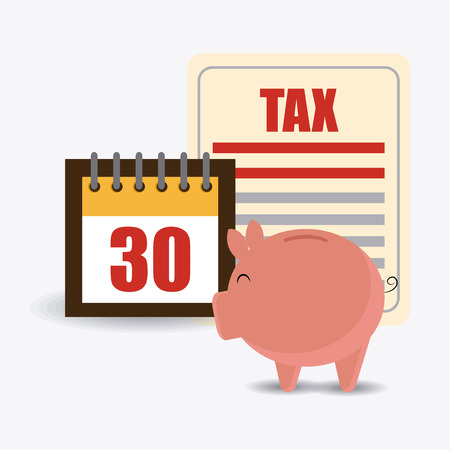 counting money: Taxes design over white background