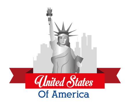 ny: USA design over white background