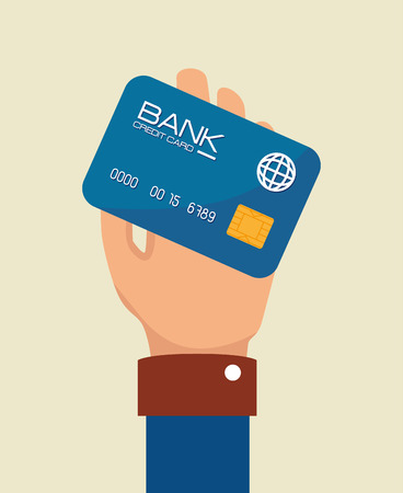 beige background: Payment design over beige background