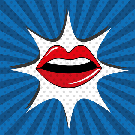 art icons: Pop art design illustration.