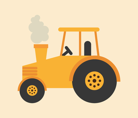 tractor sign: tractor icon design, vector illustration eps10 graphic