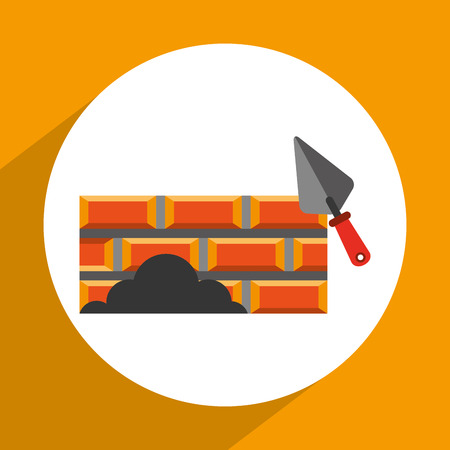 brick road: under construction design, vector illustration eps10 graphic Illustration