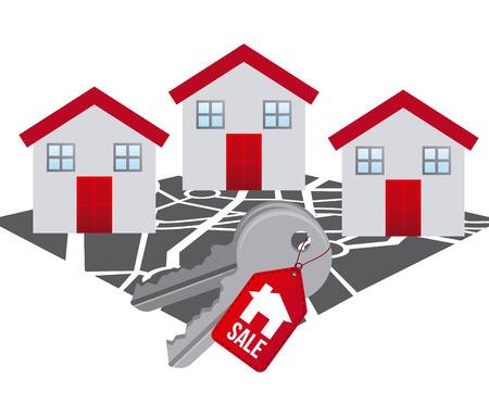 residential neighborhood: real estate design, vector illustration eps10 graphic Illustration
